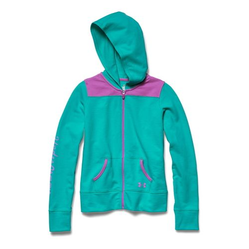 Kids Under Armour Downtown Hoody Jackets - Mosaic/Bloom YL