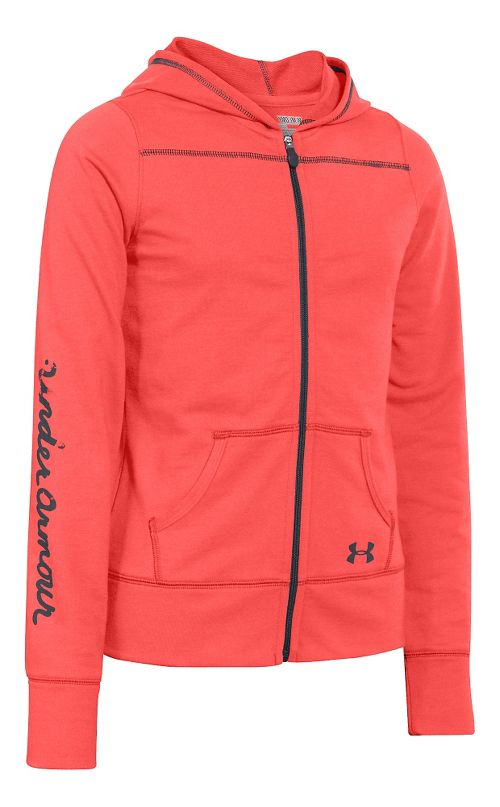 Kids Under Armour Downtown Hoody Jackets - After Burn YS