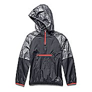 Kids Under Armour Popover Rain Shell Long Sleeve Half Zip Technical Tops