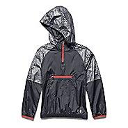 Kids Under Armour Popover Rain Shell Long Sleeve Half Zip Technical Tops