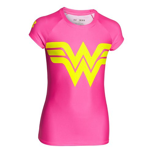 Kids Under Armour Alter Ego Sonic Wonder Woman T Short Sleeve Technical Tops - Chaos ...