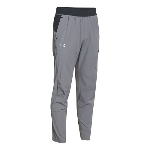 Mens Under Armour Elevate Woven Full Length Pants - Steel/Anthracite M-R
