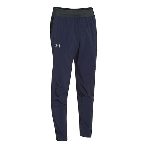 Mens Under Armour Elevate Woven Full Length Pants - Midnight Navy S