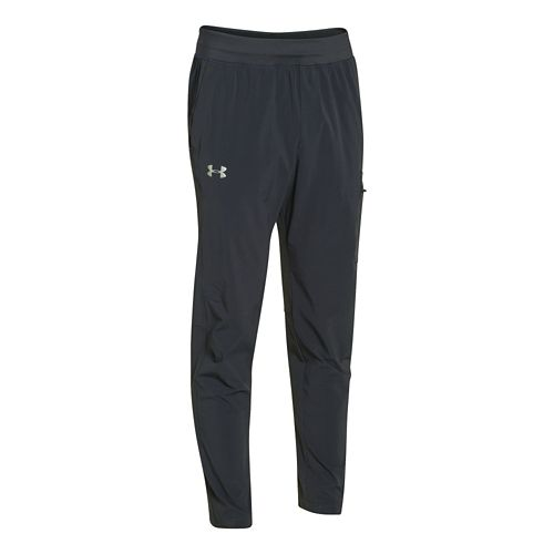 Mens Under Armour Elevate Woven Full Length Pants - Steel/Anthracite M-T