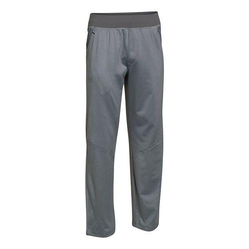 Mens Under Armour Status Knit Full Length Pants - Steel XXL-R