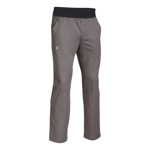 Mens Under Armour Status Knit Pants - Tan Stone L-R