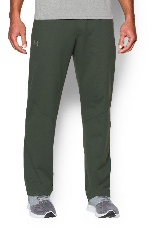 Mens Under Armour Status Knit Pants - Combat Green M-R