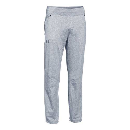 Mens Under Armour Status Knit Full Length Pants - Asphalt Heather XXL-R