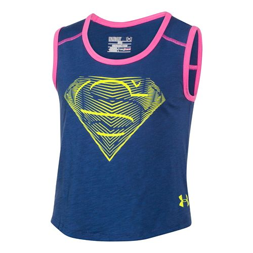 Kids Under Armour Alter Ego SuperGirl Muscle Tank Non-Technical Tops - Evening/Chaos YL
