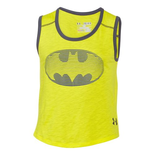 Kids Under Armour Alter Ego BatGirl Muscle Tank Non-Technical Tops - Yellow Ray/Lead YXL