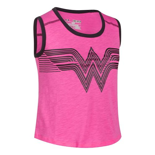 Kids Under Armour Alter Ego Wonder Woman Muscle Tank Short Sleeve Non-Technical Tops - ...