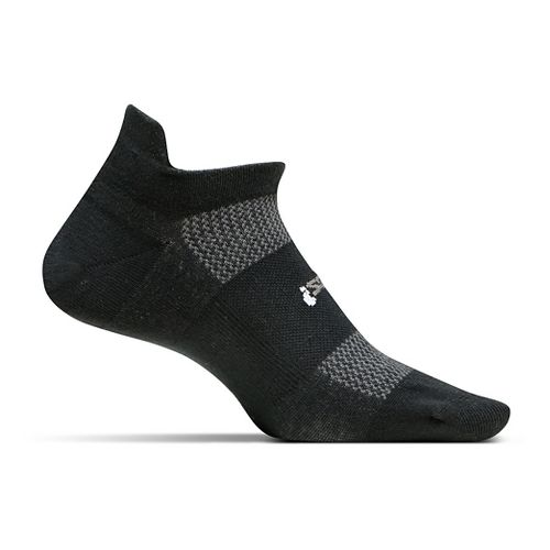 Feetures High Performance Ultra Light No Show Tab Socks - Black L