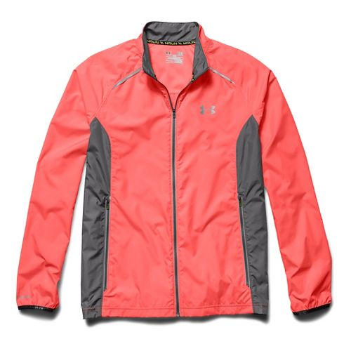 Mens Under Armour Storm Launch Run Outerwear Jackets - After Burn/Graphite XXL