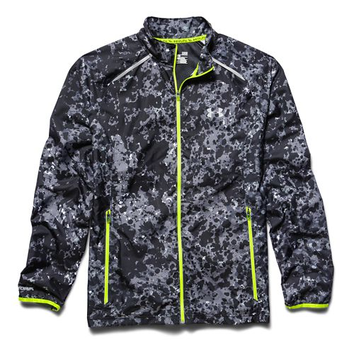 Mens Under Armour Storm Launch Run Outerwear Jackets - High Vis Yellow L