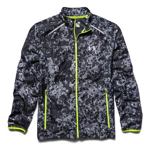 Mens Under Armour Storm Launch Run Outerwear Jackets - High Vis Yellow XL