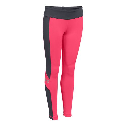 Kids Under Armour Rally Legging Full Length Tights - Pink Shock/Lead YS