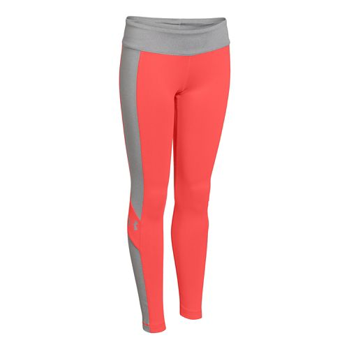 Kids Under Armour Rally Legging Full Length Tights - After Burn/Gray YS