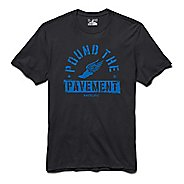 Mens Under Armour Pound the Pavement Tee Short Sleeve Technical Tops