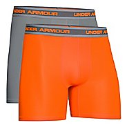 "Mens Under Armour Performance Mesh 6"" Boxerjock 2-pack Boxer Brief Underwear Bottoms"