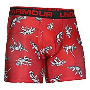 "Mens Under Armour Original Printed 6"" Boxerjock Boxer Brief Underwear Bottoms"