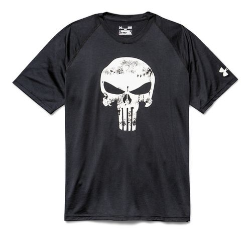 Mens Under Armour Alter Ego Punisher Tee Short Sleeve Technical Tops - Black 3XL