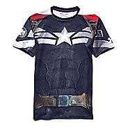 Mens Under Armour Alter Ego Compression Captain America Short Sleeve Technical Tops