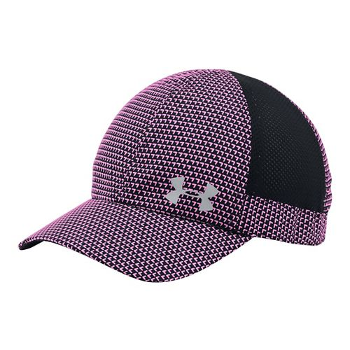 Womens Under Armour Flyfast Cap Headwear - Black/Verve Violet