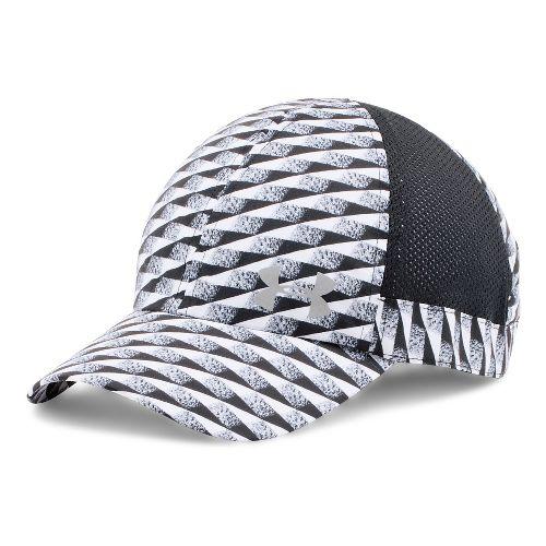 Womens Under Armour Flyfast Cap Headwear - White/Black