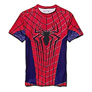 Mens Under Armour Amazing Spiderman Compression Shirt Short Sleeve Technical Tops