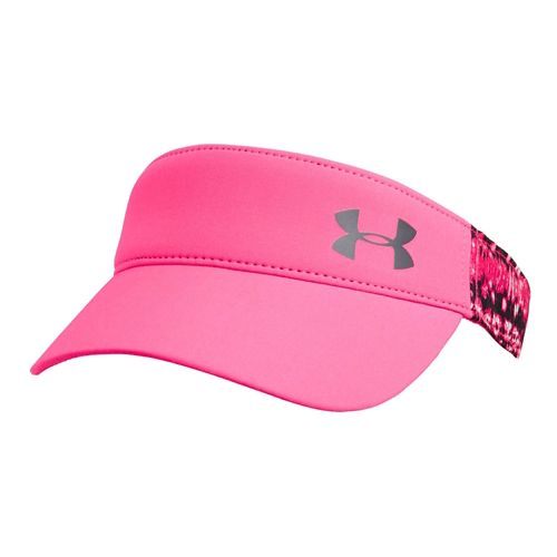Womens Under Armour Fly Fast Visor Headwear - Pink Shock/Gray