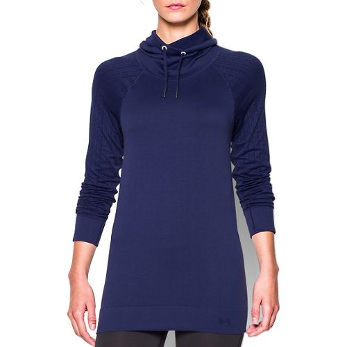 Womens Under Armour Seamless Funnel Neck Long Sleeve No Zip Technical Tops - Europa Purple ...