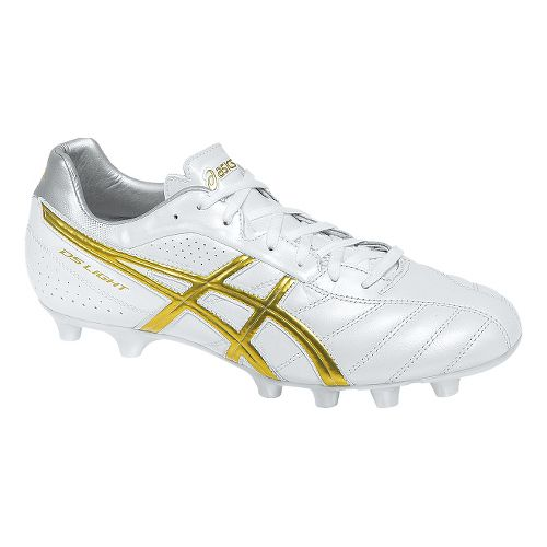 Mens ASICS DS Light 6 Cleated Shoe - Pearl White/Gold 11.5