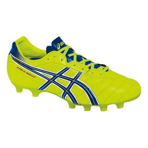 Mens ASICS DS Light 6 Cleated Shoe - Flash Yellow/Blue 9