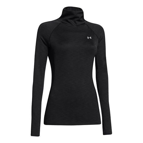 Womens Under Armour Coldgear Cozy Neck Long Sleeve No Zip Technical Tops - Black XL ...