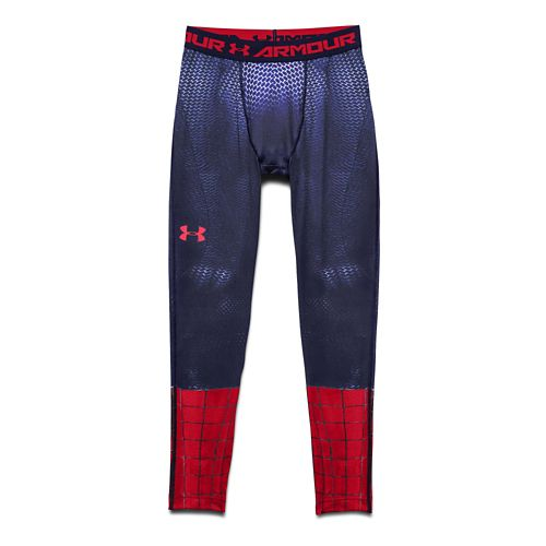 Mens Under Armour Amazing Spiderman Compression Legging Full Length Tights - Royal S
