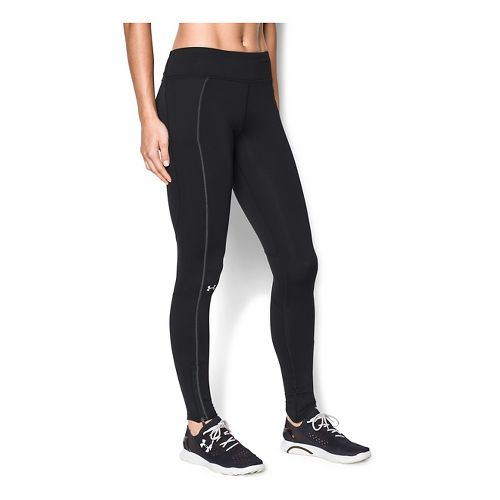 Womens Under Armour Layered Up Coldgear Legging Full Length Tights - Black L