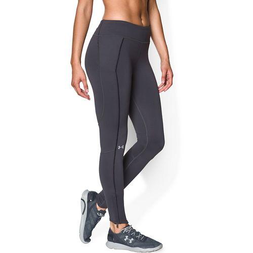 Womens Under Armour Layered Up Coldgear Legging Full Length Tights - Phantom Grey L