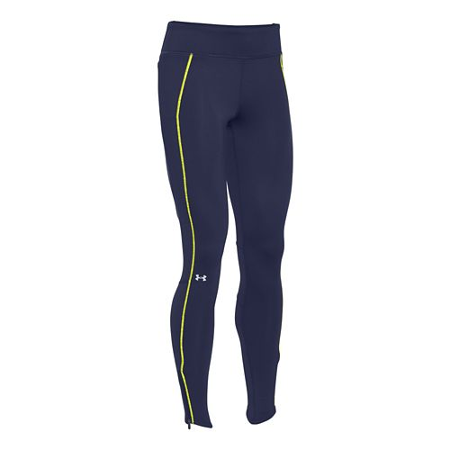 Womens Under Armour Layered Up Coldgear Legging Full Length Tights - Blue Knight L