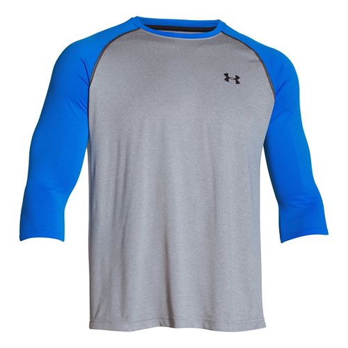 Mens Under Armour Tech 3/4 Sleeve T Long Sleeve No Zip Technical Tops - True ...