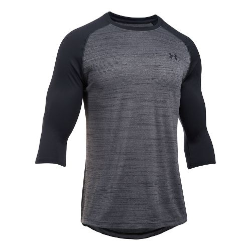 Mens Under Armour Tech 3/4 Sleeve T Long Sleeve No Zip Technical Tops - Sherry/True ...
