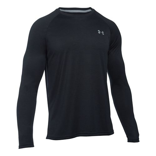 Mens Under Armour Tech Patterned T Long Sleeve No Zip Technical Tops - Black XXL ...