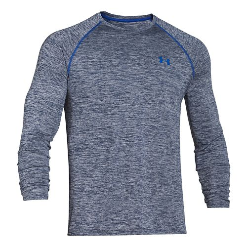 Mens Under Armour Tech Patterned T Long Sleeve No Zip Technical Tops - Academy/Twist S ...