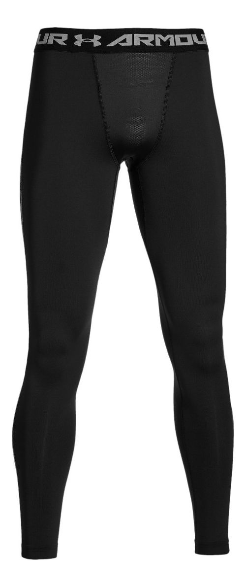 Mens Under Armour Coldgear Armour Compression Legging Full Length Tights - Carbon Heather/Black S