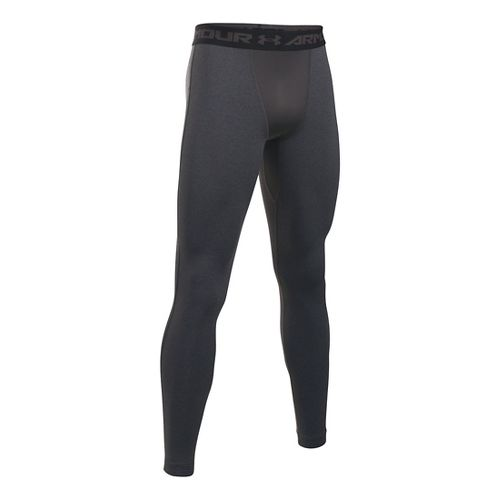 Mens Under Armour Coldgear Armour Compression Legging Full Length Tights - Carbon Heather/Black L