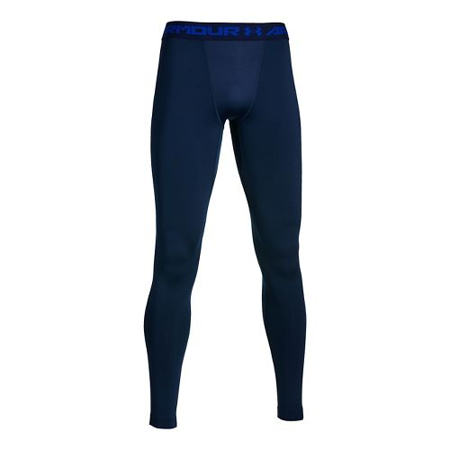 Mens Under Armour Coldgear Armour Compression Legging Full Length Tights - Academy/Cobalt M