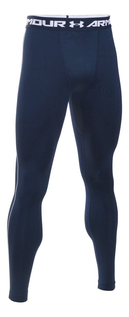 Mens Under Armour Coldgear Armour Compression Legging Full Length Tights - Midnight Navy/Steel L