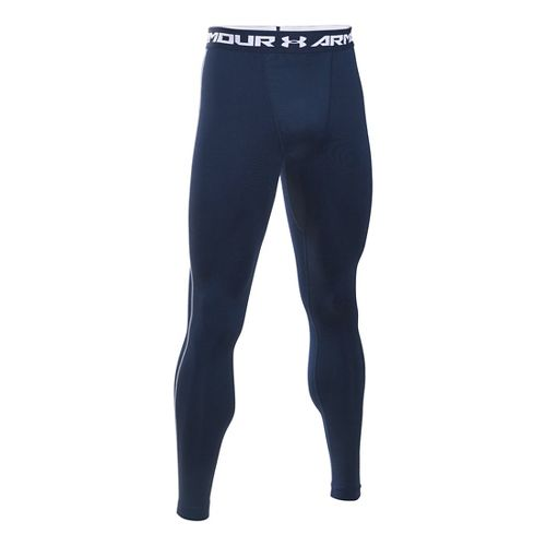 Mens Under Armour Coldgear Armour Compression Legging Full Length Tights - Midnight Navy/Steel M
