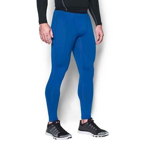 Mens Under Armour Coldgear Armour Compression Legging Full Length Tights - Blue Marker M