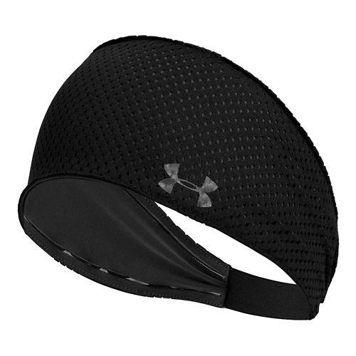 Womens Under Armour Wont Stop Headband Headwear - Black/Lead