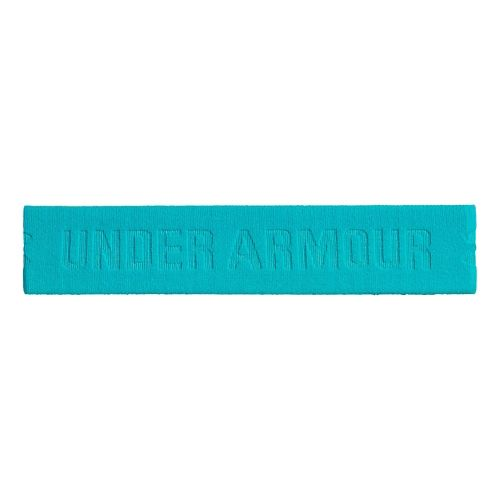 Womens Under Armour Armourgrip Wide Headband Headwear - Island Blues
